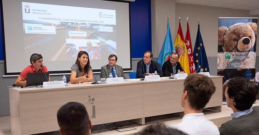 Arval y la URJC entregan los diplomas de la IV edición de los Cursos de Seguridad Vial