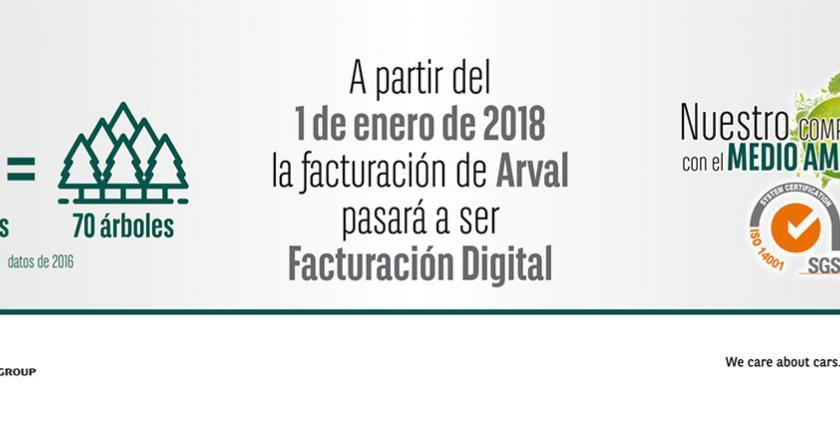Arval pasa a la facturación digital